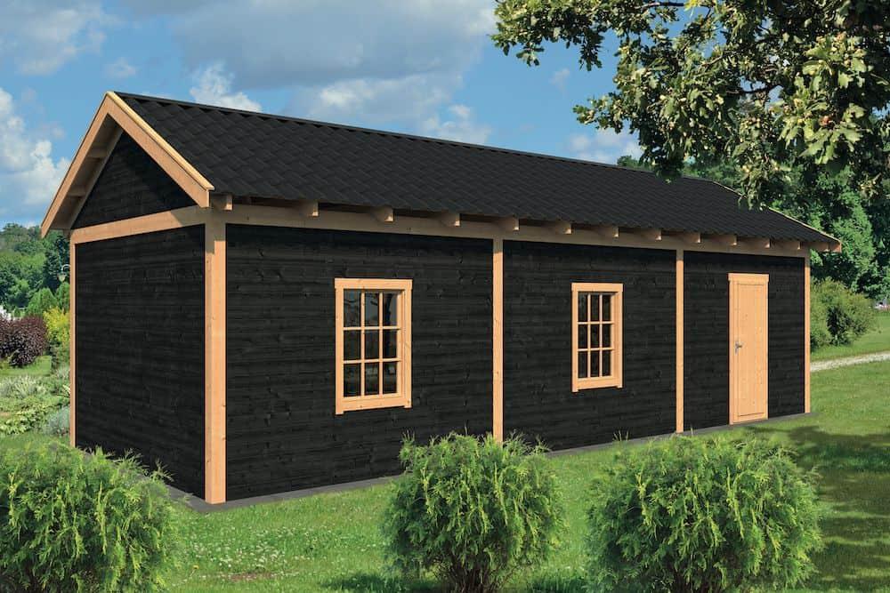 maison avec tuiles noires